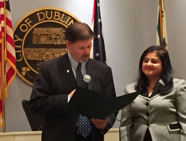 Cybervation received the National Entrepreneurship Week Proclamation from the City of Dublin at the Dublin City Council meeting Feb. 22. Cybervation was selected for founder's Purba Majumder's investment in the community as a businessperson and entrepreneur.